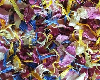 Biodegradable confetti mixed rose petals Eco friendly natural wedding throwing confetti petals