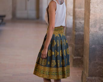 skirt / way ethnic Bell wax flare skirt