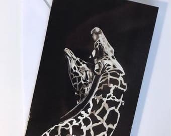 Greeting card - couple of Giraffe