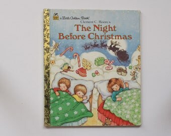 Vintage 1987 Edition 'The Night Before Christmas' Little Golden Book