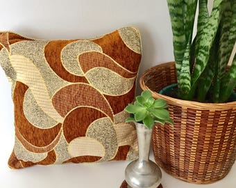 Boho cushion cover, vintage cushion, boho decor, brown cushion
