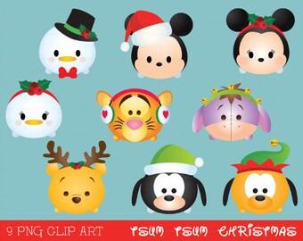 Tsum tsum clipart, tsum tsum graphics, disney tsum tsum, tsum tsum christmas clipart, party, christmas, printable