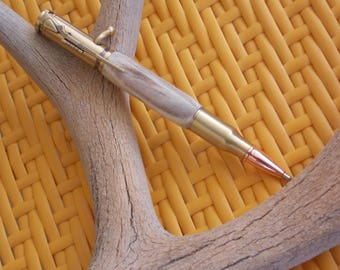 Handcrafted bolt action pen for the hunter in your life.