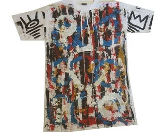 XXL One of a kind, hand painted tee shirt.