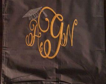 Monogrammed Decorative Pillow Case w/ zipper