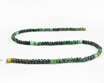 """Round Shape Green Jade Strand of 14"""" Inches"""