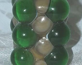 Vic's Glass Creations - Avacado - handmade lampwork focal bead - SRA