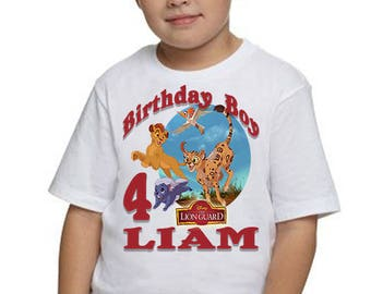 The Lion Guard Birthday Shirt, Personalized T-shirt, Birthday Party Shirt, Birthday Outfit, Invitations, Party Decorations, Birthday, Party