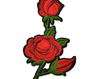 Expo Rita Iron On Embroidered Roses Applique
