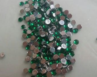 small light green rhinestones approx 200 pieces