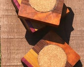 Hand made wooden drink coasters