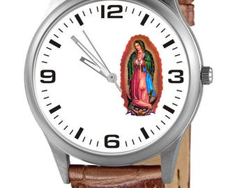 Custom clock with the Virgin of Guadalupe