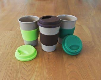 Eco Friendly Rice Husk Reusable Biodegradable Travel Cup/Mug