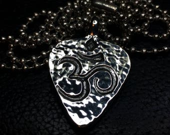 Om guitar pick pendant