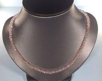SALE 30% , Pink Quartz Necklace, Pink Quartz Gemstone Necklace , Crystal Necklace , Birthstone Necklace , April Birthstone Necklace