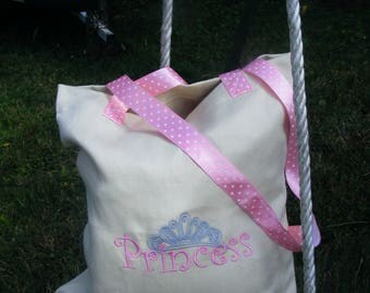 "tote bag, kids bag ""princess"" (free customization)"