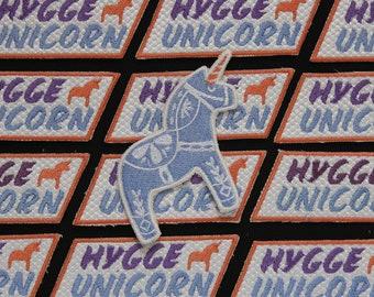 Hygge Unicorn & Dahla Horse Patch Set - Scandinavian Nordic Design - Unicorn Birthday - Party Favor - Jacket Patch - Magical - Gift Idea -