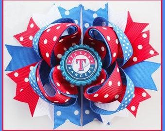 Texas Ranger Polka Dot Boutique Hair Bow