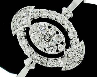 Stylish 14k White Gold Ring 0.45ct. Diamonds with IGI Certificate