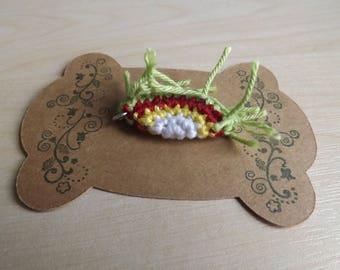 Crocheted Rambutan Pendant