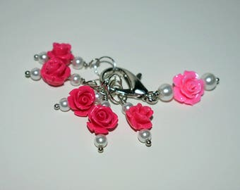Pink Rose Stitch Markers