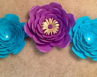 Paper flower Set of 3