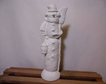 Ceramic Bisque Ready to Paint Snowman