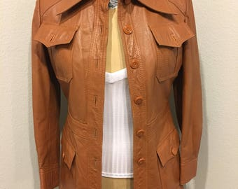Vintage Montgomery Ward Leather coat