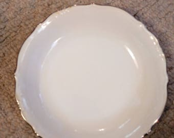 White bowl with gold trim from Bavaria Germany