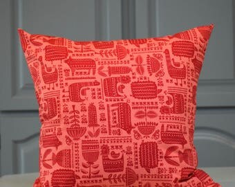Red Print Pillow