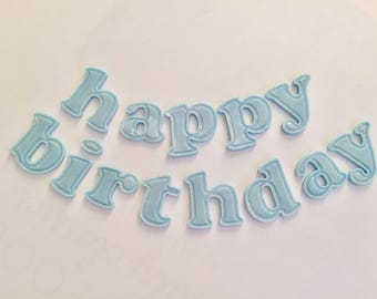 "Cake topper ""Happy Birthday""-Sugar (fondant) letters, customisable"
