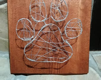 Wire Paw Sculpture Wall Art