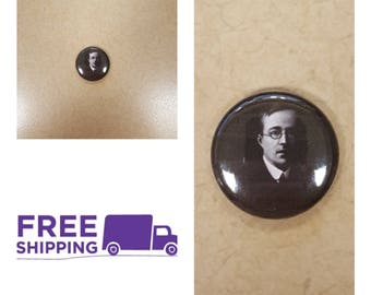 "1"" Gustav Holst Portrait Button Pin or Magnet, FREE SHIPPING & Coupon Codes"
