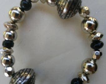 Black/silver bracelet