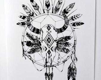 Skull Mischief Print