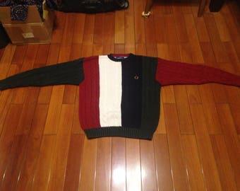 VTG vintage Tommy Hilfiger knit color block Large