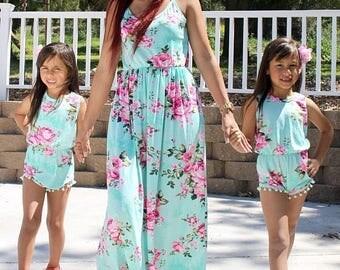 Mommy and Me Paula Maxi Dress / Paula Girl Romper