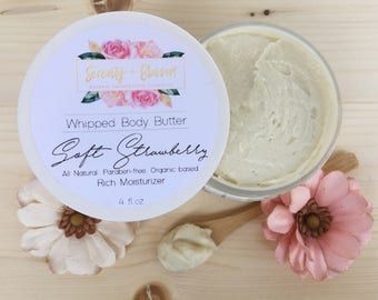 Organic Soft Strawberry Body Butter