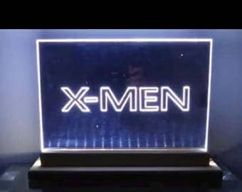 Hand etched custom LED mirror signs