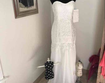 Ivory or Pink Lace Dress