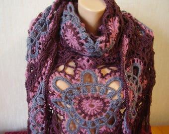 Knit shawl womens shawl lace shawl knit shawl neck warmer hand knit shawl fashion scarf unique gift