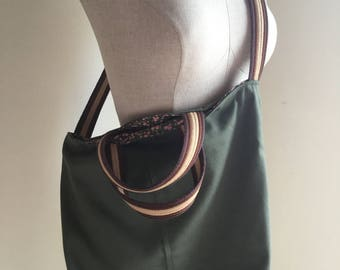 Green Cotton Canvas Tote