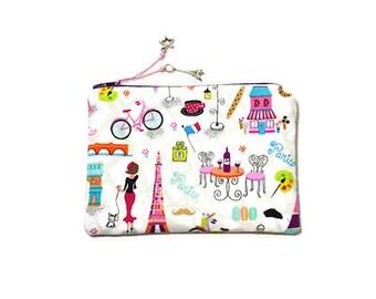 "Small makeup clutch bag ""Walk in Paris"""
