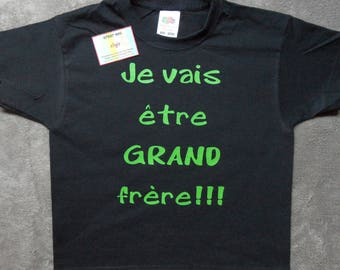 """Personalized kids t-shirt """"I will be big brother"""""""