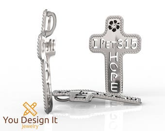 Custom Verse Cross Pendant
