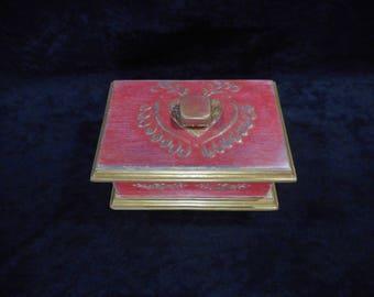 """Ancient wood storage box / Piece of unique """""""""""