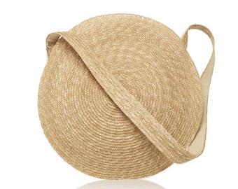 Straw circle bag, round straw bag, circular bag, round bag, straw beach bag raffia, straw handbag, rattan bag, wicker handbag, summer bag