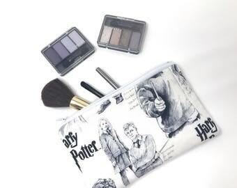 Harry Potter Cosmetic Bag, Makeup Brush Holder, Make-up Bag, Makeup Bag, Pencil Case, Makeup Organizer, Makeup Organizers, Zipper Pouch