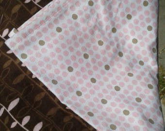 Receiving, swaddling  blanket set pink and brown baby girl