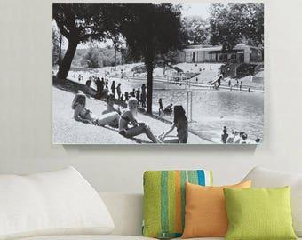 Classic Photo of Vintage Austin, Barton Springs Pool 1969